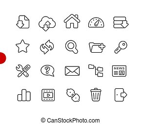 FTP and Hosting Icons // Red Point Series