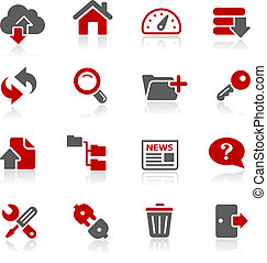 FTP and Hosting Icons -- Redico Ser - Vector icons for your ...