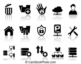 ftp, anfitrião, ícones