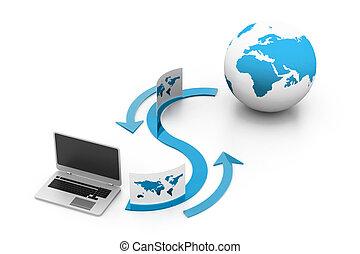 ftp, condivisione, concetto, dati