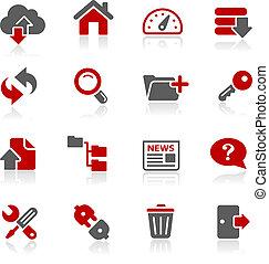 ftp, e, hosting, ícones, --, redico, ser