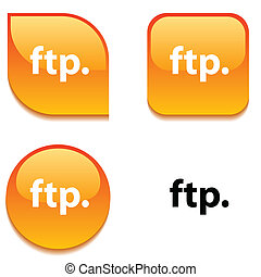 FTP glossy button.