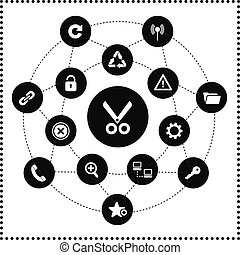ftp, hosting, ícones