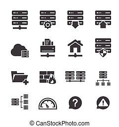 ftp, &, hosting, icone