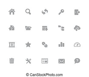 FTP & Hosting Icons // 32px White Series