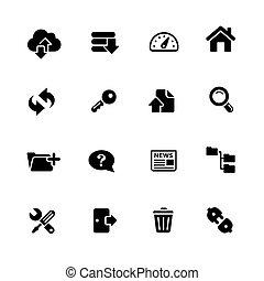 FTP & Hosting Icons // Black Series