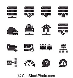 FTP & Hosting Icons