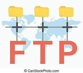FTP letters and three folders