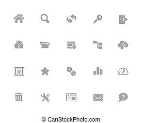 //, ftp, &, série, ícones, hosting, 32px, branca