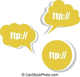 ftp. Set of stickers, labels, tags. Business banners vector