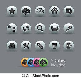 ftp, y, hosting, iconos, //, perlado, serie