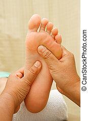 fuß, reflexology, massage, behandlung, spa