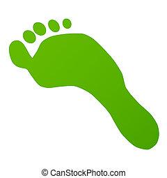 fußabdruck, grün