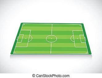 Fussball Feld Abbildung Markierung Illustration Areas
