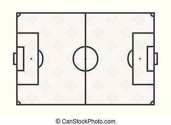 Fussball Feld Freigestellt Ubertragung Hintergrund Weisses