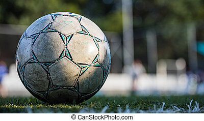 Feld Bokeh Fussball Hintergrund