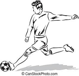 Fussball Abbildung Sport Spieler Fussball Ball