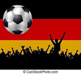 fußball, hintergrund, deutschland