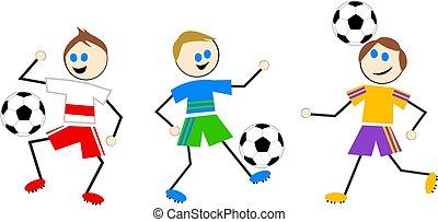 fußball, kinder