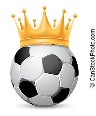 fußball, krone, kugel