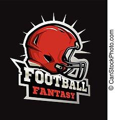 fußball, modern, football., fantasie, amerikanische , logo.