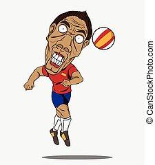 fußball, player., spanien
