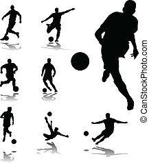 fußball, sammlung, spieler