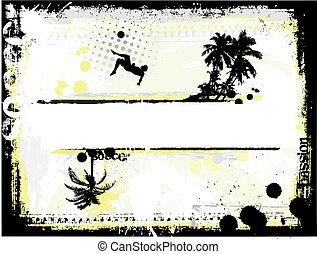 fußball, sandstrand