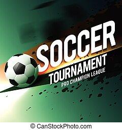 Fußball, design, turnier. Verfügbar, 10, ereignis, turnier ...