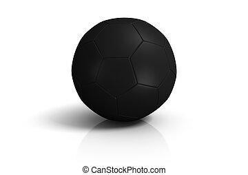 fußball, weiße kugel, schwarzer hintergrund