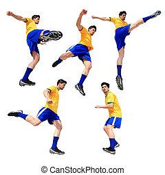 fußballfootball, spieler, mann