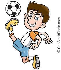 Vektor Spieler Fussball Abbildung Vektor Clipart Suchen