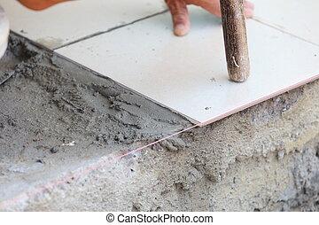 Fußboden Im Haus ~ Installation fussboden boden haus besen beton bereit