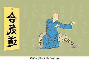 fu, contra, kung, hie, hombre, exposiciones