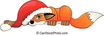 fuchs, kappe, weihnachten