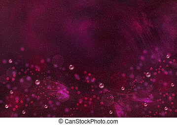 Fuchsia background with bubbles and bokeh