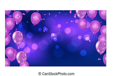 Fuchsia metallic baloons on the upstairs with clear path...
