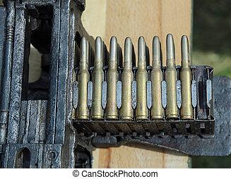 fucile, macchina, esercizi, durante, munizioni, guerra