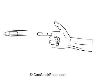 fucile, mano