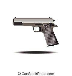 fucile, semiautomatica, vettore