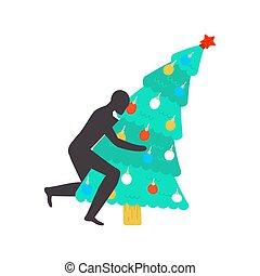 fucking, fir-tree., 性交, クリスマス, 木。, クリスマス。, 憎悪, クリスマス, 人