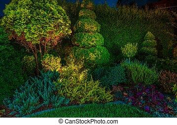 fue adelante, iluminación, jardín, iluminación