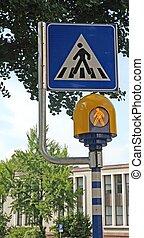 fue adelante, luces, señal, paso de peatones, destellar