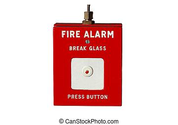 fuego, alarm.