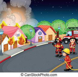 fuego, aldea