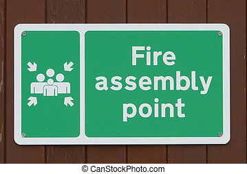 fuego, asamblea, punto, señal