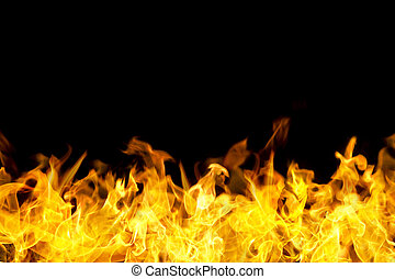 fuego, bandera, frontera, forma, llamas