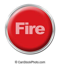 fuego, botón