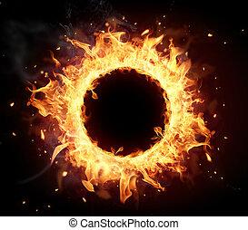 fuego, círculo