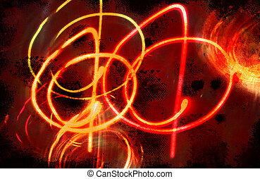 fuego, círculos